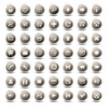 49 monochromatic web icons Stock Photo