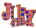 4th of July 3D text Stock Image