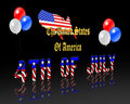 4th of July Background on Black Royalty Free Stock Image