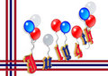 4th of July balloons graphic 3D Royalty Free Stock Photography