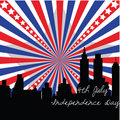 4th July banner Royalty Free Stock Photography