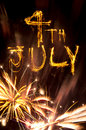 4th July fireworks Royalty Free Stock Photo