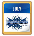 4th of July independence day background calendar Stock Images