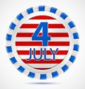4th July label, vector Royalty Free Stock Images