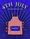 4th July menu Royalty Free Stock Photo