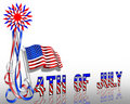 4th of July Patriotic Border Stars and Stripes Royalty Free Stock Photography