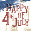 4th July Poster. Royalty Free Stock Image