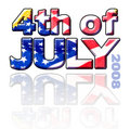 4th of July Sign Royalty Free Stock Photo