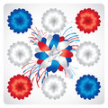 4th of July  Vector Ribbon Stock Image