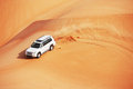 4x4 dune bashing is a popular sport of the Arabian Stock Photography