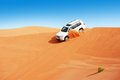 4x4 dune bashing is a popular sport of the Arabian Stock Images