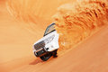 4x4 dune bashing is a popular sport of the Arabian Stock Photo