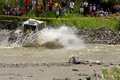 4X4 Racers through mud in Ecuador Stock Photo