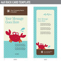 4x9 Rack Card Broshure Template Royalty Free Stock Images