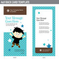 4x9 Rack Card Template Stock Photos