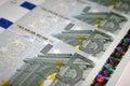 5 Euroanmerkungen Stockbilder