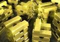 5 gold stack Стоковые Изображения