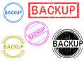 5 Grunge Stamps - Backup Stock Images