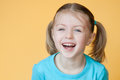 5 year old girl laughing Royalty Free Stock Images