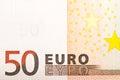 50 Euros Royalty Free Stock Photo