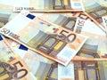 50 euros background Stock Images