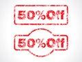 50% off grunge stamp