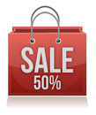 50% OFF SHOPPING BAG Royalty Free Stock Image