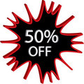 50% Off Sign Illustration Stock Image