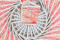 50 pound sterling bank notes business background Stock Photography