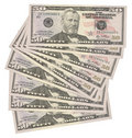 50 US dollars banknotes Royalty Free Stock Photography