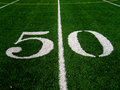 50 Yard Line Royalty Free Stock Photography
