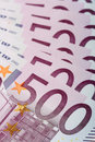 500 euro billets de banque Photo libre de droits