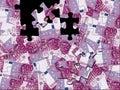 500 euro puzzle Stock Image