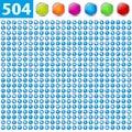504 glossy icons Royalty Free Stock Photo