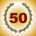50th anniversary card Royalty Free Stock Photo