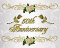 50th Anniversary Invitation Stock Image