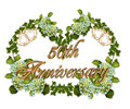 50th Anniversary Ivy and Hydrangea Royalty Free Stock Images