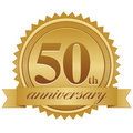 50th Anniversary Seal EPS Stock Images