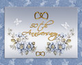 50th wedding anniversary card Royalty Free Stock Photography