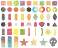 52 kinds of sugar sprayed jelly Royalty Free Stock Photo