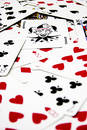52 pickup Poker Cards Royalty Free Stock Photo