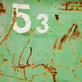 53 grunge number Royalty Free Stock Image