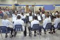 5th grade band recital Royalty Free Stock Photo