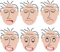 6 angry faces Royalty Free Stock Photos