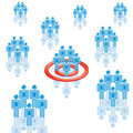 6. Target Market in blue. Stock Images