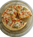 6 veggie pizza 2 (path included) Royalty Free Stock Photo
