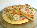 6 veggie pizza 3 (path included) Royalty Free Stock Photo