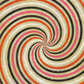 60's 70's Retro Swirl Funky Wild Spiral Rays Royalty Free Stock Photography