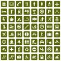 64odlišný piktogramy zelený