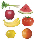 7 fruits and vegetables Stock Photo